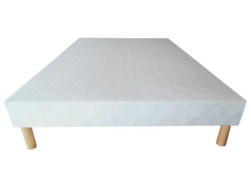 Acheter Sommier 130x190 tapissier 26 lattes 20 cm + 4 pieds pas cher !