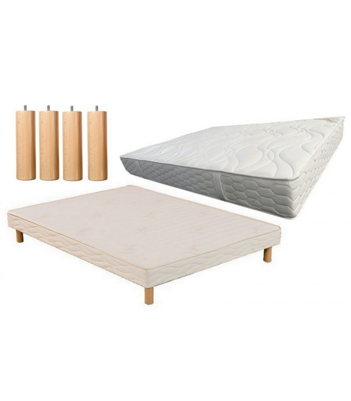 ensemble 140x190 matelas mousse et sommier lattes. Black Bedroom Furniture Sets. Home Design Ideas