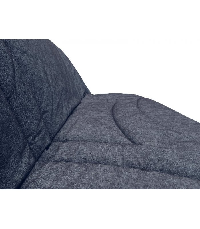 housse pour clic clac 140x190 matelass e terrenas bleu. Black Bedroom Furniture Sets. Home Design Ideas