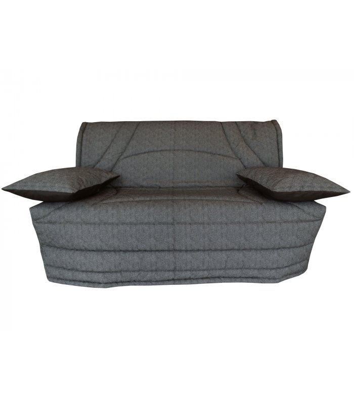 housse 140x190 matelass e pour banquette bz terrenas gris. Black Bedroom Furniture Sets. Home Design Ideas
