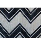 Tissu d'ameublement pas cher blanc et bleu de qualité en coton - MARINA FOND BLANC